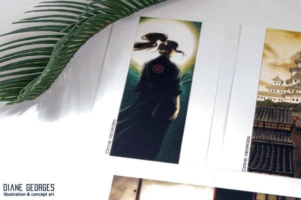 Samourai postcard