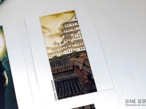 Himeji castle poastcard