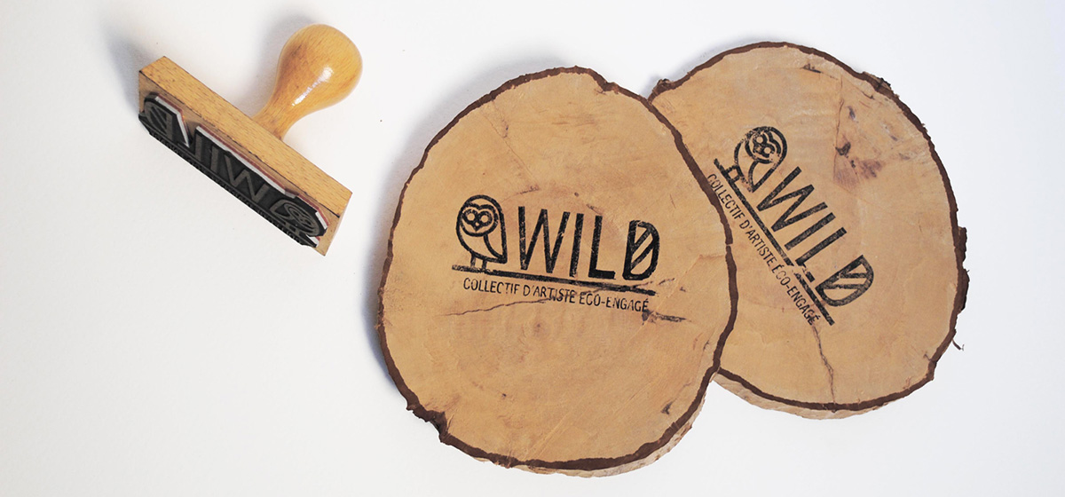 flyer en rondin de bois