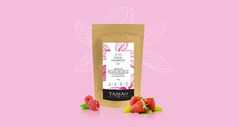 Création étiquette de thé bio TASSAO