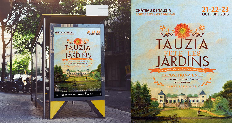 affiche Tauzia fête les jardins édition automne 2016
