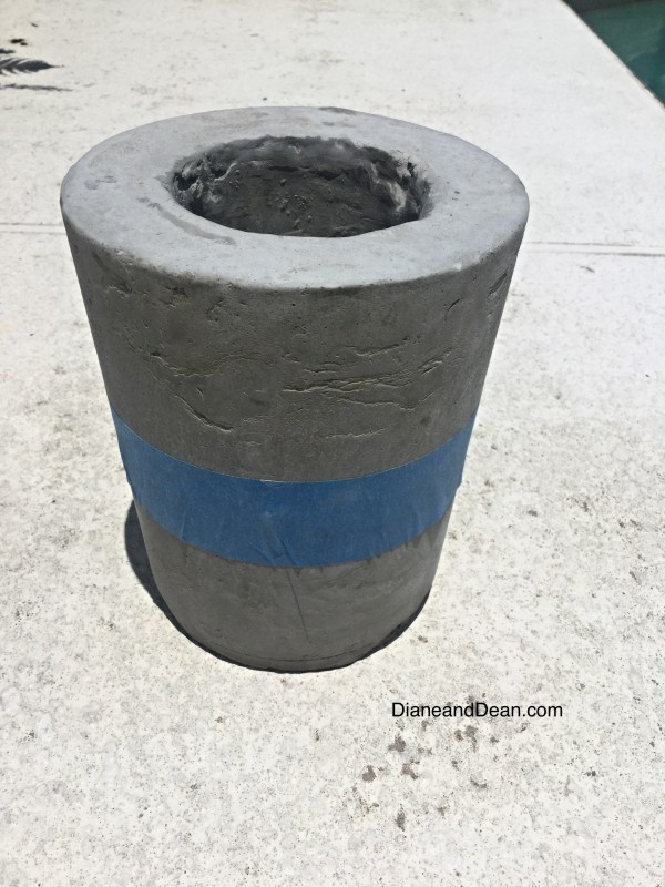 diy cement candle holder