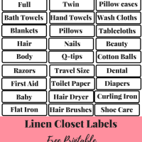Organize Your Linen Closet In Less Than An Hour
