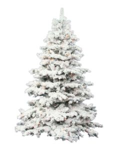9 Flocked Christmas Trees In All Shapes and Sizes