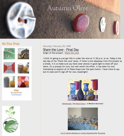 Autumn Olive Blog