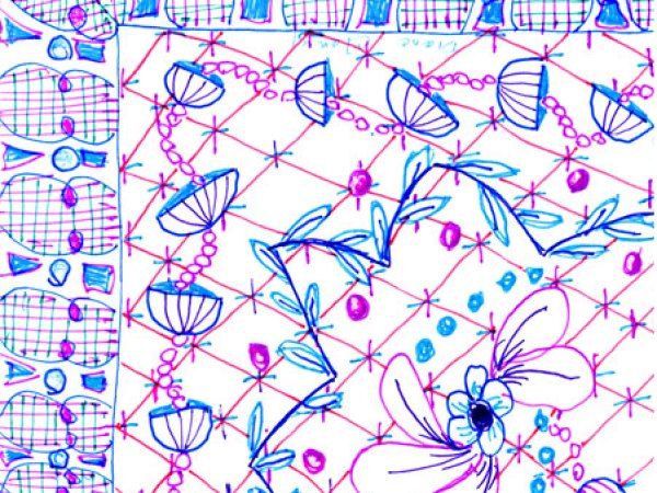 Tangle a Border Print