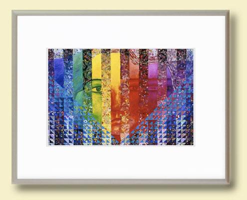 Inner Flow II Framed Tile