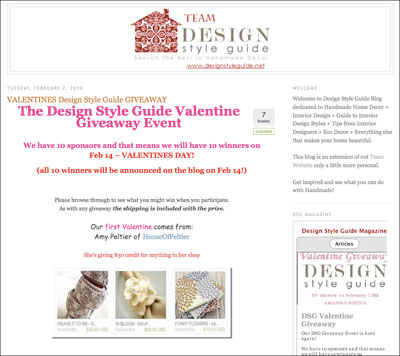 Design Style Guide Valentine Giveaway