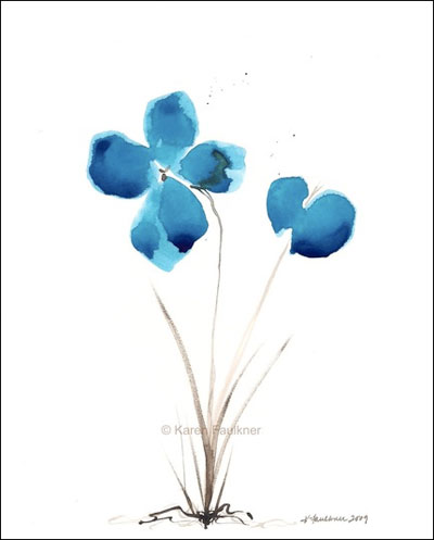 Bluest of Blue Flowers, © Karen Faulkner Art