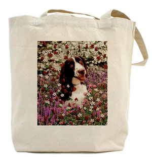 Lady in Flowers tote