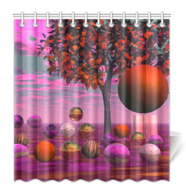 Bittersweet Opinion, Bronze Raspberry Maple Tree Shower Curtain