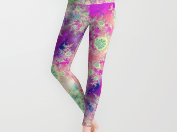 Raspberry Heart Star, the Heart Beat of Love Leggings
