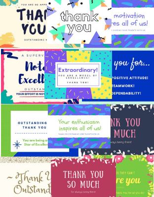 Thank You Recognition Cards
