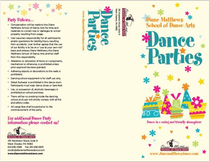 Dance Party brochure- outside