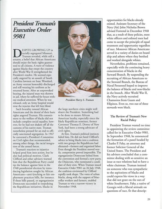 Truman's Executive Order 9981