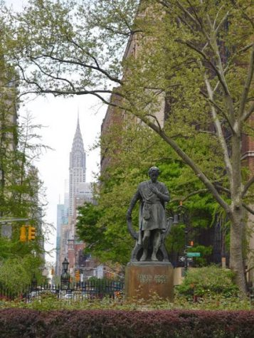 Gandhi Statue in Union Square Park, photo by Lauren Puglisi Manhattan, NYC office location
