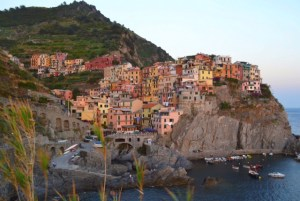 Cinque Terre village with colorful houses on hillside