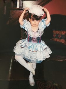 When the truth is hard: image of her as a toddler in a ballet costume.