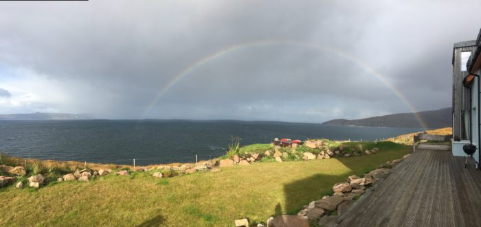 Scotland vs. America: image of a Scottish rainbow