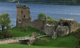 Scotland vs. America: Image of Urquhart Castle on Loch Ness in the Highlands of Scotland.