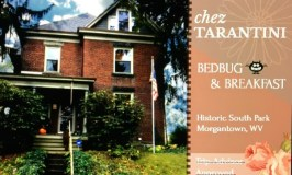 Bedbugs 101: image of a business card for Chez Tarantini Bedbug and Breakfast.
