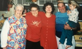 In-Law image: picture of Nana, Grandma, me, Pappy, and our daughter
