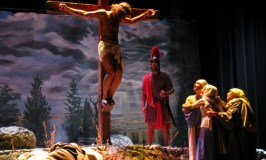 The Mourning After: Image of Chestnut Ridge Church's Passion play. Mary at the foot of the cross.
