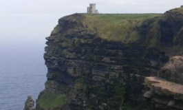 Ireland 101: Image of the stone turrett at the Cliffs of Moher.