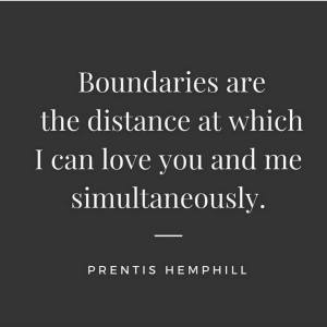 "Social Media image which reads, ""Boundaries are the distance at which I can love you and me simultaneously."""
