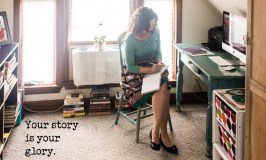 Child Sexual Abuse Prevention. Image of a woman writing her story in a journal.