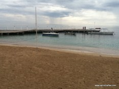 View of pier from SCUBA desk