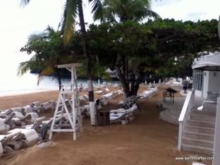 View of main beach from SCUBA desk