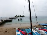 Raining, view from the water sports desk
