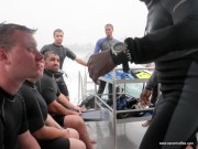 Receiving the final briefing