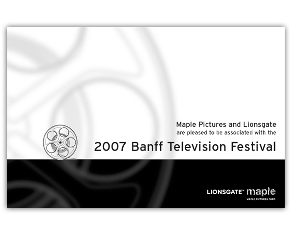 Ad for Banff Film Festival program: Maple Pictures