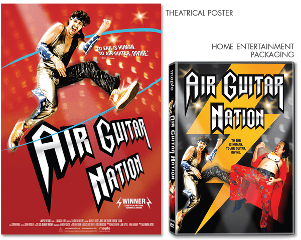 Keyart for theatrical and home entertainment: Air Guitar Nation
