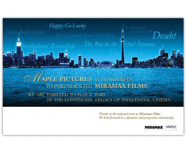 Ad in Variety Magazine: Maple Pictures and Miramax