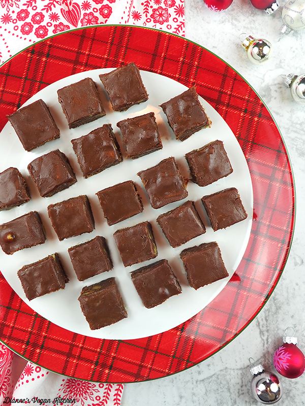 Melt-in-Your-Mouth Vegan Fudge plate
