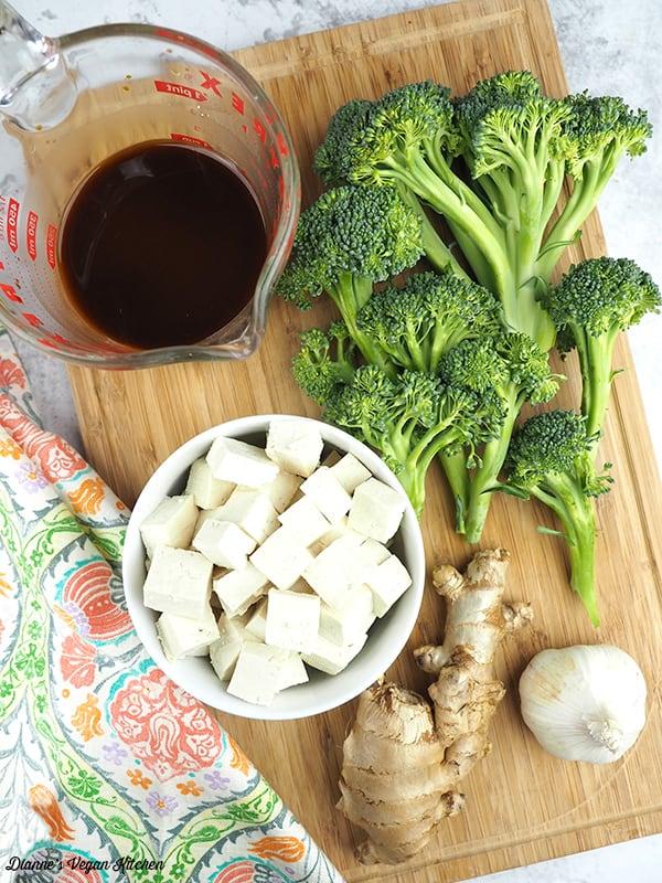 Tofu Teriyaki Stir-Fry ingredients