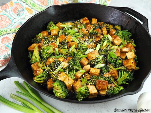Tofu Teriyaki Stir-Fry horizontal in pan