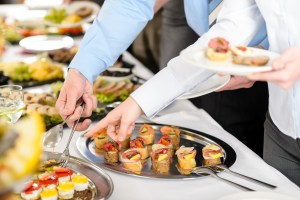Gourmet wedding buffet catering