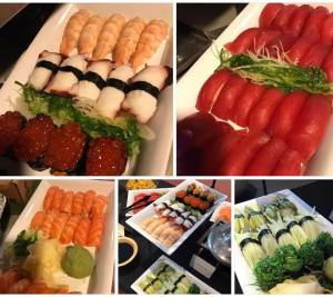Sushi catering for cocktail parties