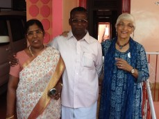 Madhubala and Augustin - he is now the Community Leader - yet another supporter of AAP with AAM Admiral!