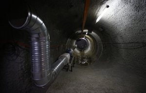This photo taken Thursday, June 19, 2014, shows the ventilation pipe of a tunnel in Horonobe Underground Research Center in Horonobe, Japan. Reindeer farms and grazing Holstein cows dot a vast stretch of rolling green pasture here on Japan's northern tip. Underground it's a different story. Workers and scientists have carved a sprawling laboratory deep below this sleep dairy town that, despite government reassurances, some of Horonobe's 2,500 residents fear could turn their home into a nuclear waste storage site. Shizuo Kambayashi / AP Photo Read more here: http://www.miamiherald.com/2014/07/14/4235169/underground-lab-tackles-japan.html#storylink=cpy