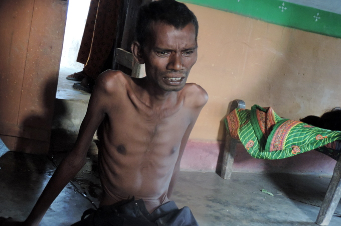Agnu Murmu spoke to Al Jazeera about the crisis days before he died of cancer [Sanjay Pandey/Al Jazeera]