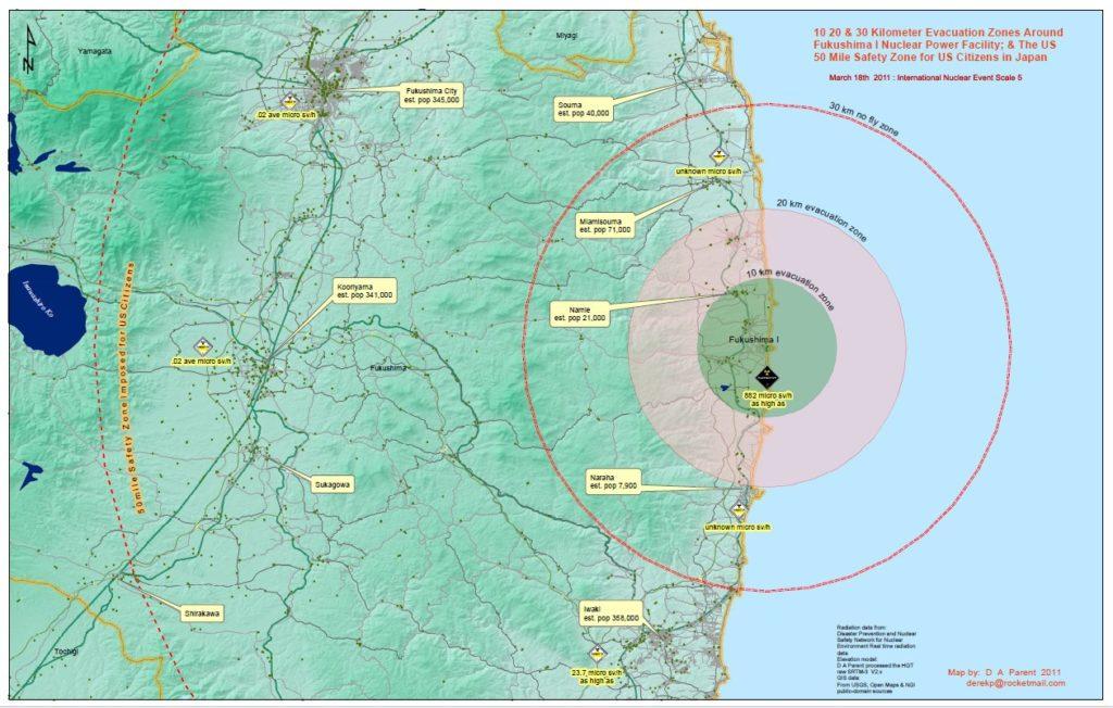 The Broken Maps Of Fukushima DiaNukeorg - Japan map fukushima