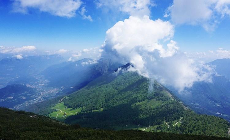 panorama dal monte Stivo