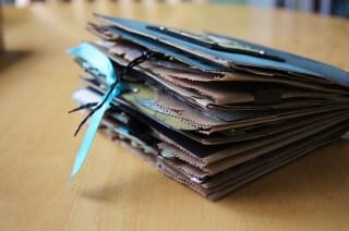 mini album, tutorial, scrapbook, scrapbooking, paper bag album, tags