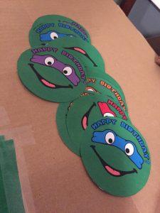 punchboard, party game, game, kids stuff, birthday, ninja turtle