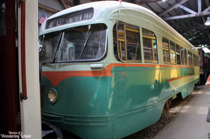 A 1950s era Washington DC trolley car
